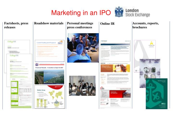 Marketing in an IPO