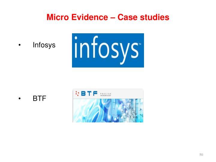 Micro Evidence – Case studies
