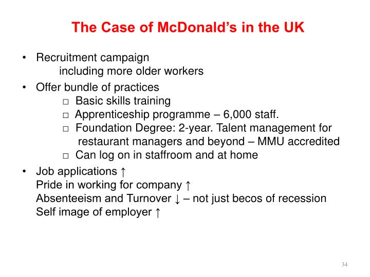 The Case of McDonald's in the UK