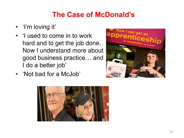 The Case of McDonald's