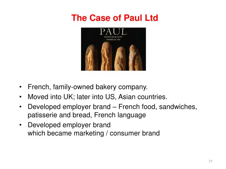 The Case of Paul Ltd