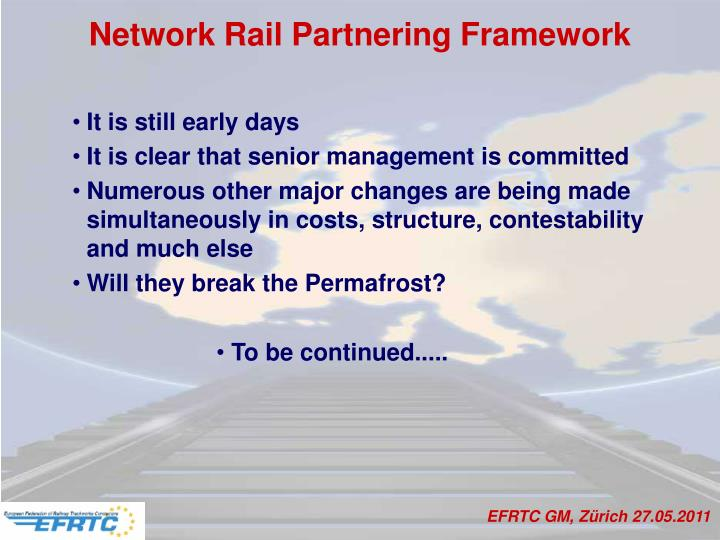 Network Rail Partnering Framework