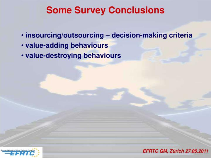 Some Survey Conclusions