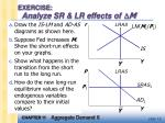 exercise analyze sr lr effects of m