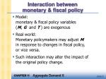 interaction between monetary fiscal policy