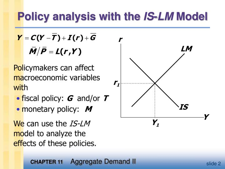 Policy analysis with the is lm model