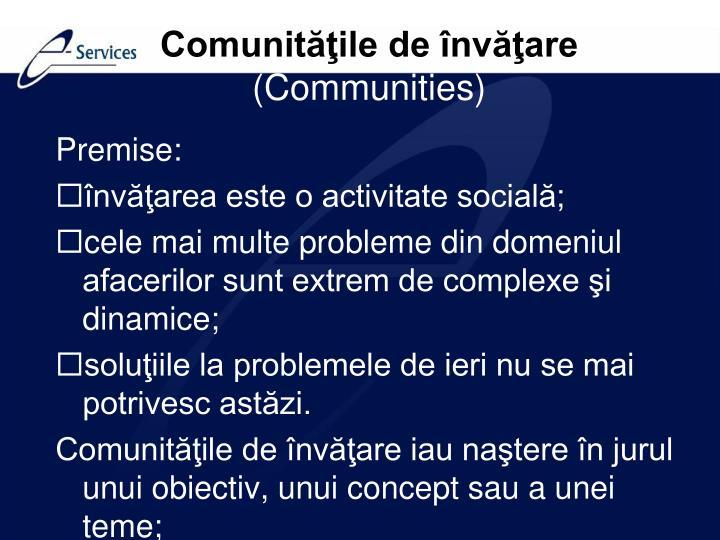 Comunităţile de învăţare