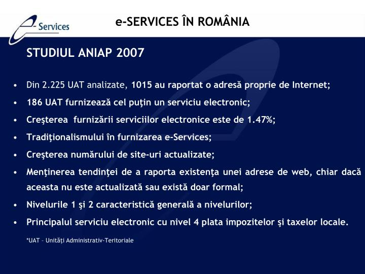 STUDIUL ANIAP 2007