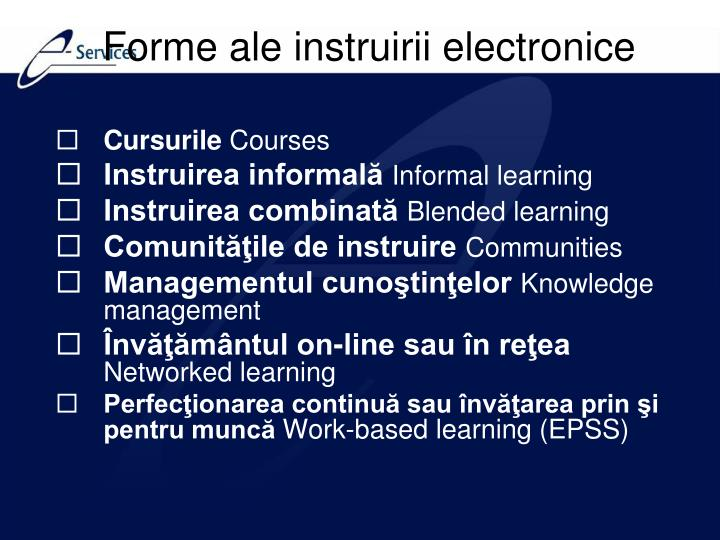 Forme ale instruirii electronice