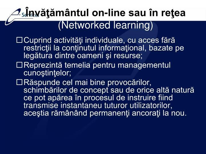 Învăţământul on-line sau în reţea