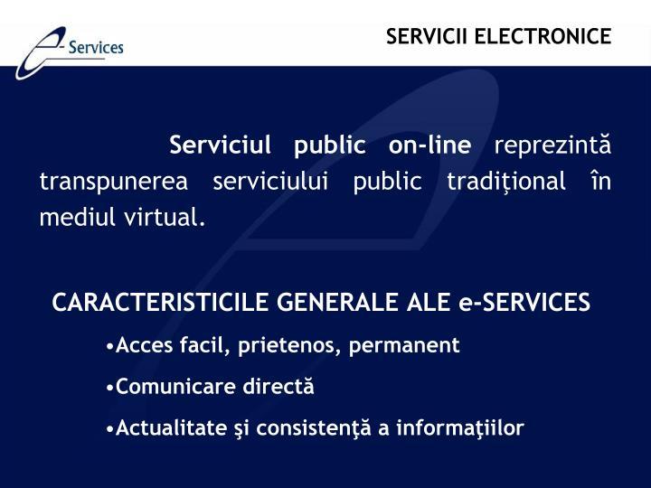Serviciul public on-line