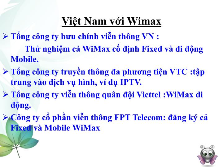 Việt Nam với Wimax
