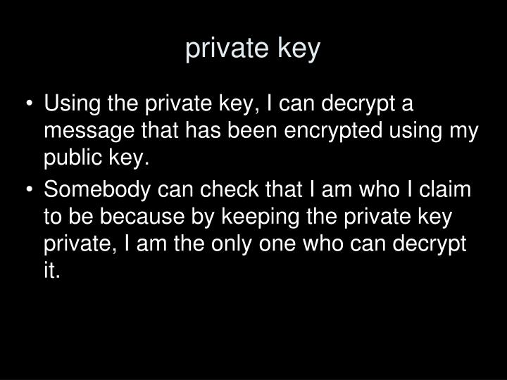 private key