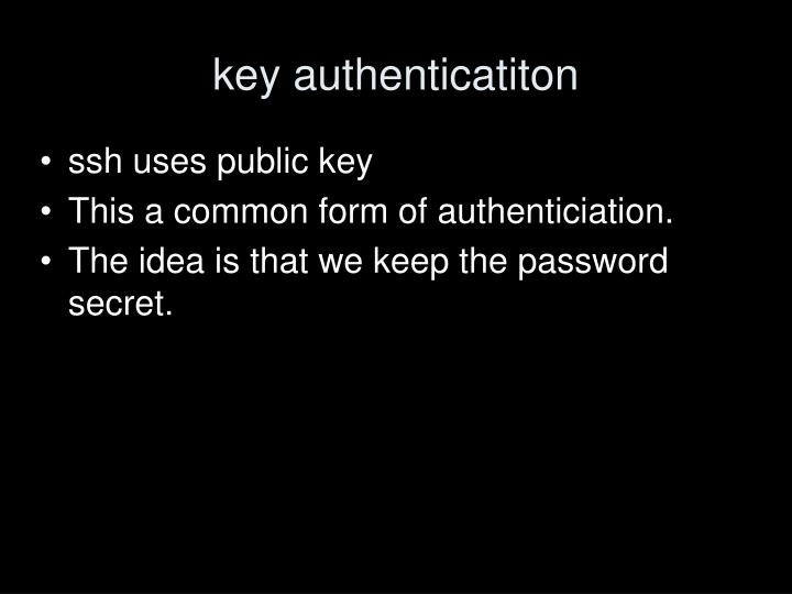 key authenticatiton