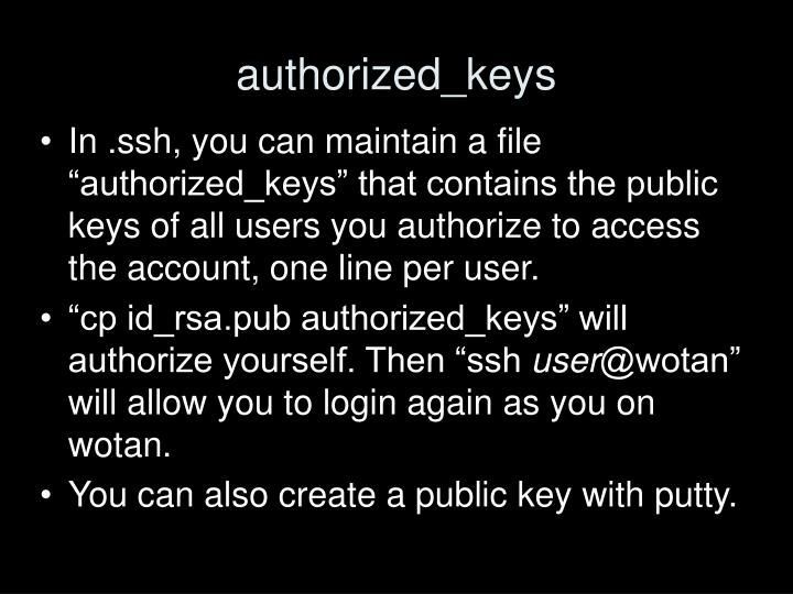 authorized_keys