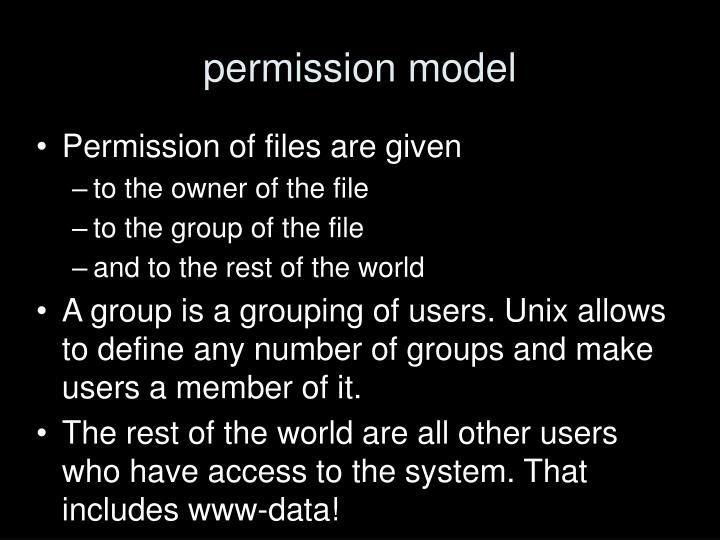 permission model
