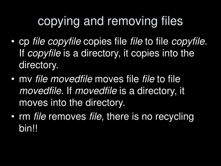 copying and removing files