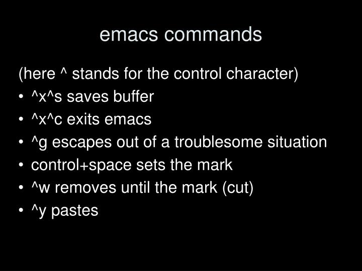 emacs commands