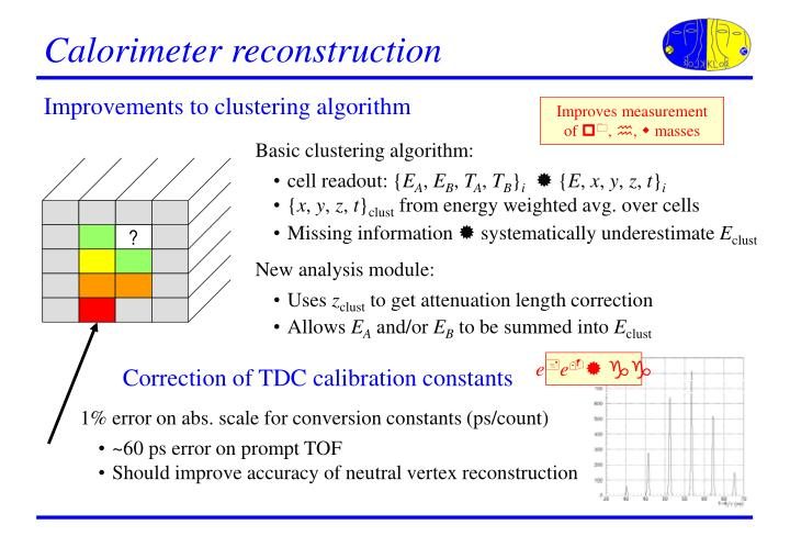 Calorimeter reconstruction