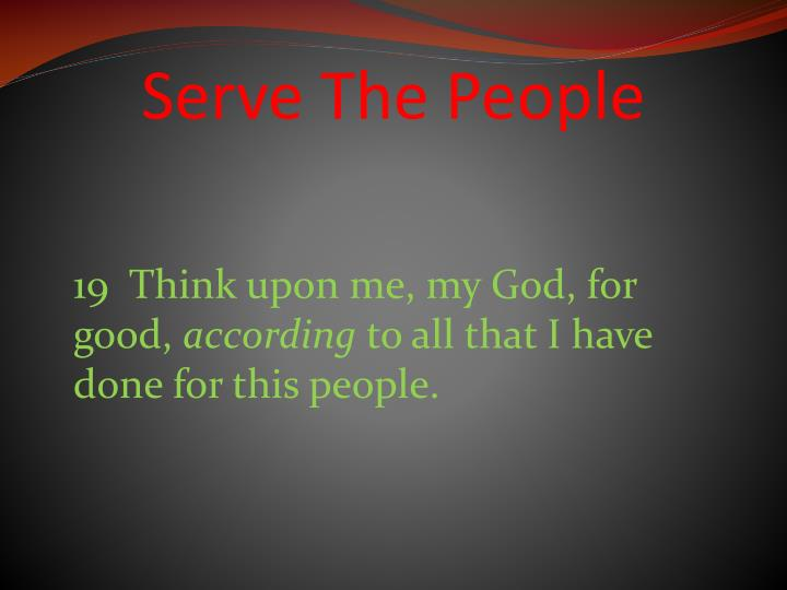Serve The People