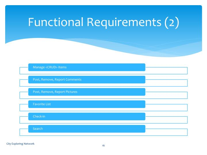Functional Requirements (2)