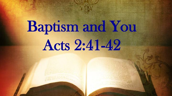 Baptism and You
