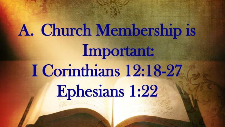 Church Membership is Important: