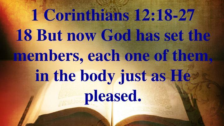 1 Corinthians 12:18-27