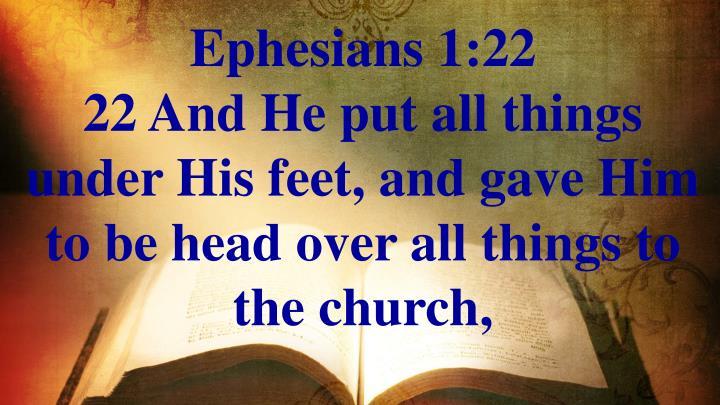 Ephesians 1:22