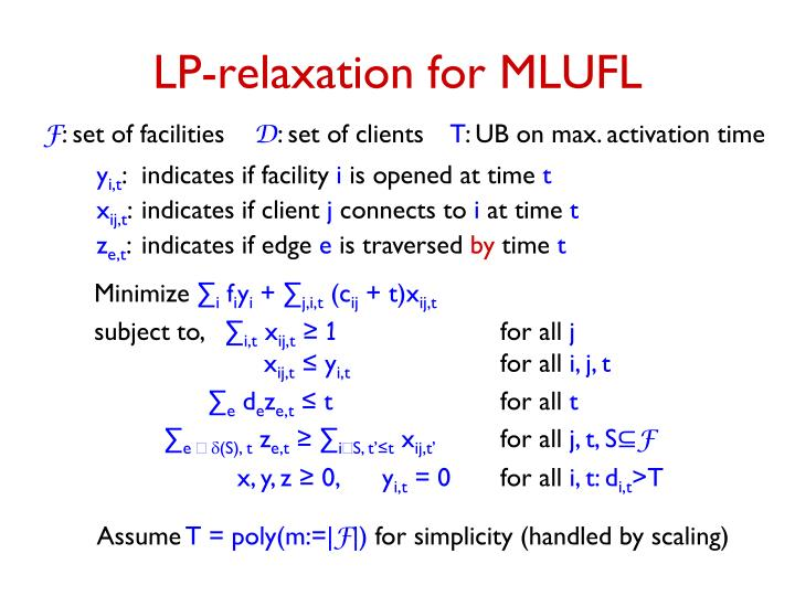 LP-relaxation for MLUFL