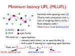 minimum latency ufl mlufl1