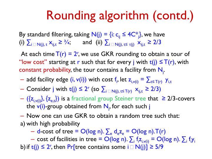 Rounding algorithm (contd.)