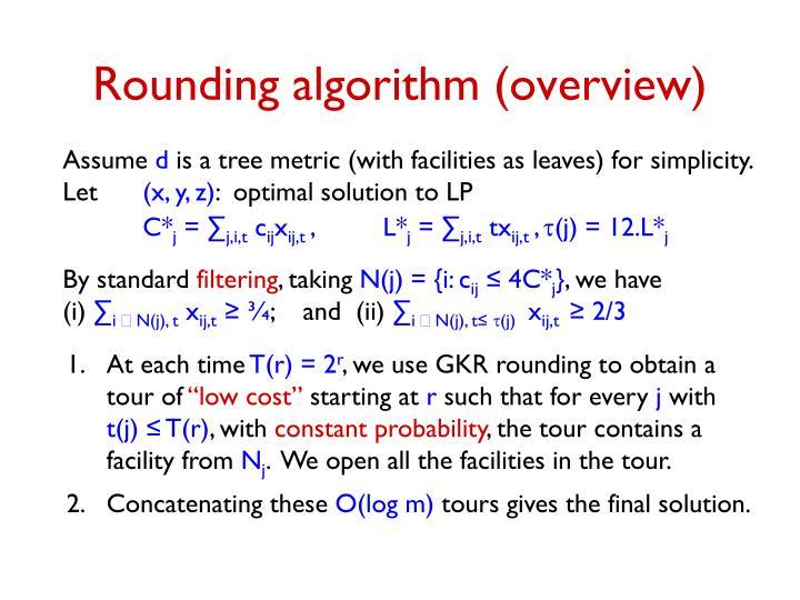 Rounding algorithm (overview)