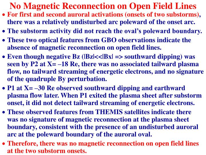 No Magnetic Reconnection on Open Field Lines