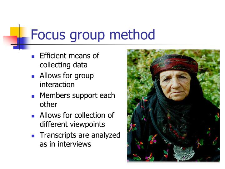 Focus group method