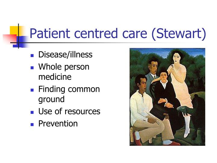 Patient centred care (Stewart)