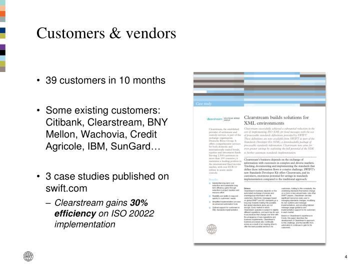 Customers & vendors