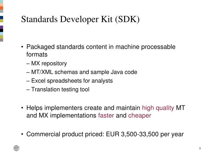 Standards Developer Kit (SDK)