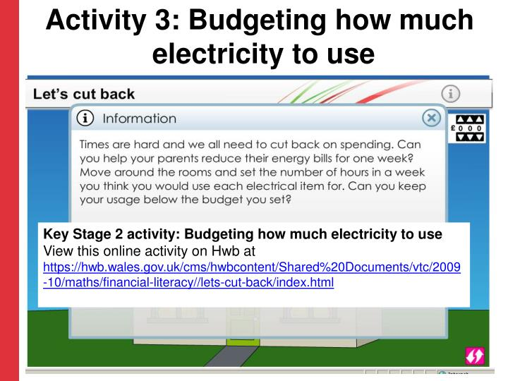 Activity 3: Budgeting how much