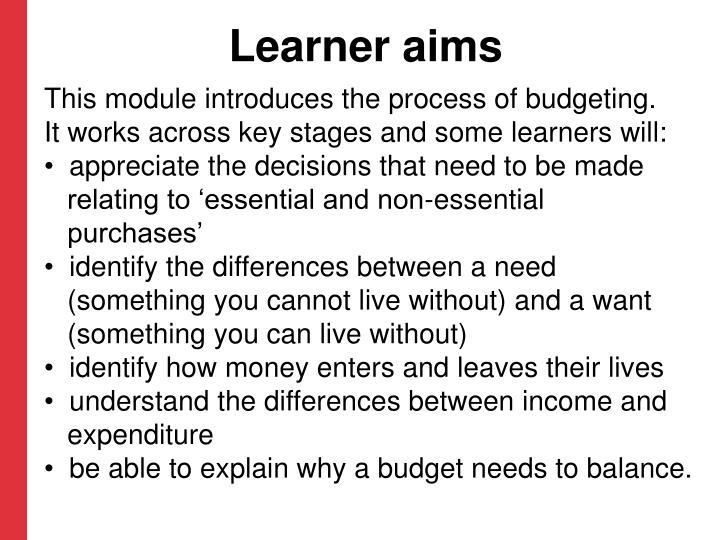 Learner aims