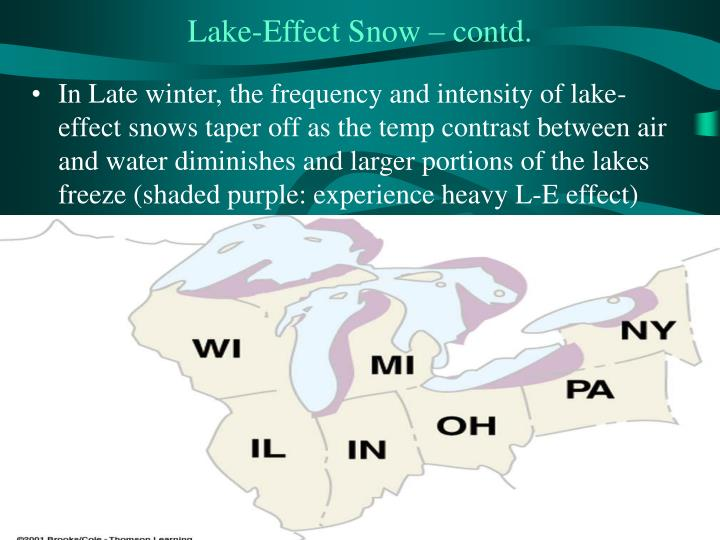 Lake-Effect Snow – contd.