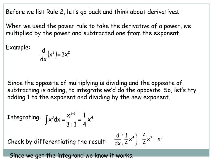 Before we list Rule 2, let's go back and think about derivatives.
