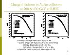 charged hadrons in auau collisions at 200 130 gev at rhic