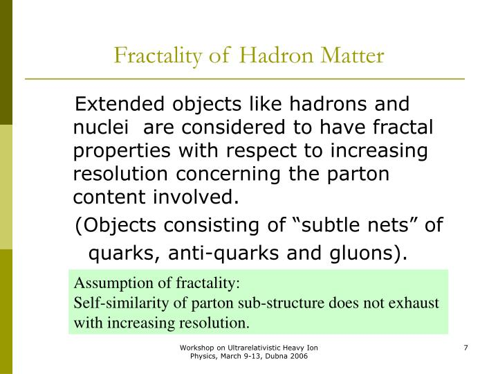 Fractality of Hadron Matter