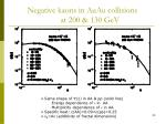 negative kaons in auau collisions at 200 130 gev