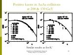 positive kaons in auau collisions at 200 130 gev