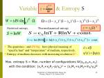 variable entropy s