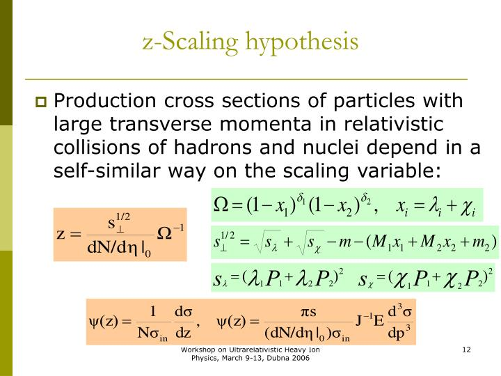 z-Scaling hypothesis