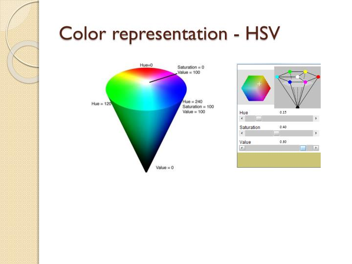 Color representation -
