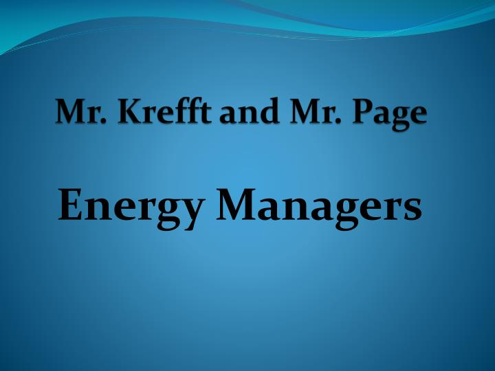 Mr krefft and mr page